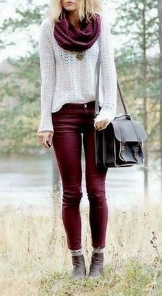 punto, winter outfit, white and purple