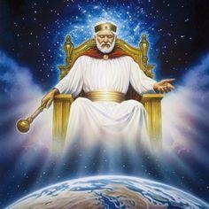Jesucristo, el Rey del Reino de Dios, en su trono