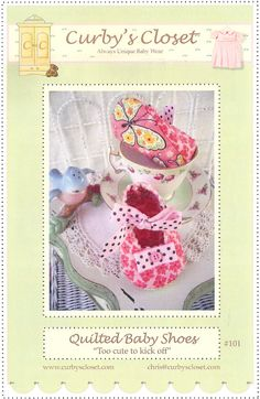 Baby, Infant Shoe Pattern -  Paper Sewing Pattern / Instruction Booklet by Curby's Closet