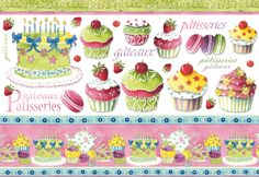 Decoupage Paper Cupcakes