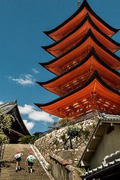 Five Story Pagoda, Miyajima, Japan | http://visithiroshima.net/things_to_do/attractions/shrines_and_temples/five-storied_pagoda.html