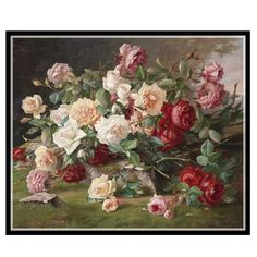 Cheap painting wall decoration, Buy Quality decorative painting crafts directly from China painting with oil based paint Suppliers: Needlework,DIY DMC 14CT Cross stitch Kit, Roses Bouquet II Counted Pattern Embroidery Cross-stitch Painting Home Decor handmade