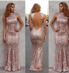Prom dress rose gold