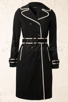 King Louie - 40s Trench Coat in Black