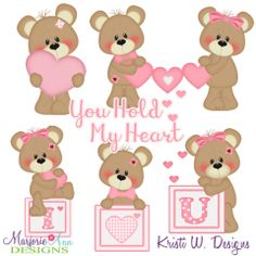You Hold My Heart SVG Cutting Files + Clipart Hold My Heart, Felt Templates, Paper Piecing Patterns, Digital Stamps, Animals For Kids, Clipart, Cutting Files, Hello Kitty, Hold On