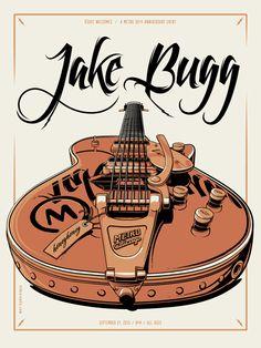 Jake Bugg / Honeyhoney gig poster by Charles Crisler