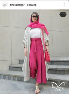 Hijab Fashion Summer, Street Hijab Fashion, Abaya Fashion, Muslim Fashion, Hijab Street Styles, Fashion 2020, Star Fashion, Girl Fashion, Chic Outfits