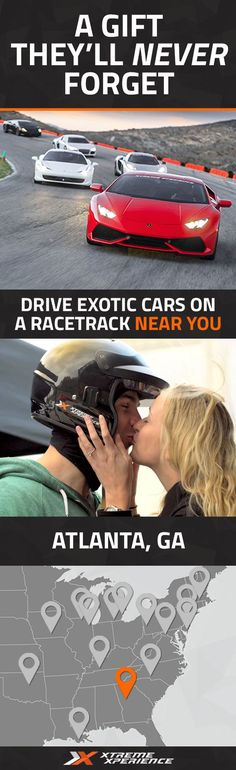 It's never been easier to give a gift to the guy who has everything. Driving a Ferrari, Lamborghini, Porsche or other exotic sports car on a racetrack is a unique gift idea that is guaranteed to leave a smile on his face and a life-long memory. Xtreme Xperience brings the thrill of a lifetime to you at a racetrack in Atlanta from November 11-13, 2016. Reserve your SupercarTrack Xperience today for as low as $199. Space is limited!