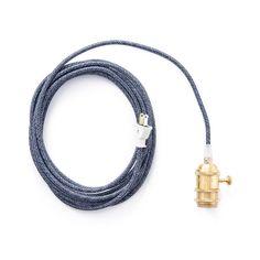 Color Cord Company Brass Plug-In Pendant Light