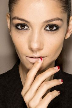 The Best Spring '13 Nail Trends to Try Now: Two Tone Manicure - Featured: Roland Mouret
