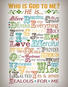 Who Is God To Me? Printable