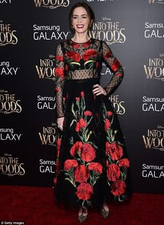 Emily Blunt in Dolce&Gabbana at the New York City premiere of her new movie Into The Woods on Monday at Ziegfeld Theater