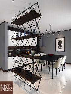 dinning room with modern Design by me