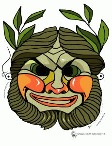 Printable Greek Mask  OR they can color