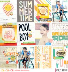 Pool Boy - Scrapbook.com - Made with Simple Stories Summer Vibes collection.