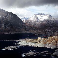 Lofoten Opera Hotel by Snohetta in Norway (photo by Ken Schluchtmann)