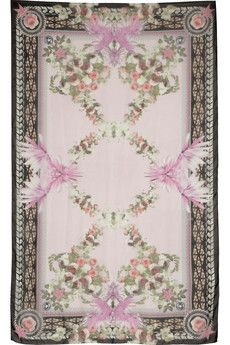 Givenchy Paradise Flowers printed silk-chiffon scarf | THE OUTNET