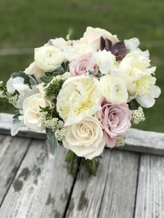 Wedding Flowers at Trapp Family Lodge, Stowe, VT - Floral Artistry Ranunculus, Peonies, Destination Wedding, Wedding Day, Dusty Miller, Spray Roses, Fresh Flowers, Vermont, Flower Designs