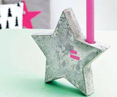 #DIY #christmas #candleholder #cement -zelfmaakidee: #kerst #kandelaar #beton - kijk op: www.101woonideeen.nl
