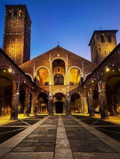 Buongiorno e buona domenica Eccoci davanti a Sant'Ambrogio Foto di Franco Brandazzi #milanodavedere http://ift.tt/1I13bh2 Milano da Vedere