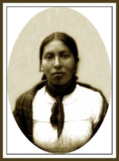 """Native American woman"" by Marion Stark Gaines ca. 1900. Sadly no further information."