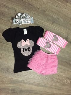 FREE SHIPPING Minnie Mouse Birthday Outfit by SunshineChloeCrafts