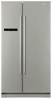 This Samsung American Fridge Freezer with stylish Platinum Inox finish looks great in any home. Samsung A Series, Appliance Reviews, American Fridge Freezers, French Door Refrigerator, Washing Machine, Tall Cabinet Storage, Kitchen Appliances, Kitchen Ideas, House