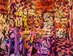 Compulsive Crocheter Olek Yarn Bombs a Room and a Taxi with Stunning Results (Photos) : TreeHugger