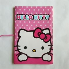 Hello kitty polka dots passport cover hello kitty pinterest cartoon hello kitty credit card holderpvc leather id card bagbusiness porte carte reheart Images