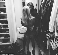So in love! Anwar Hadid gushed over Nicola Peltz with a sweet black and white Instagram sn...