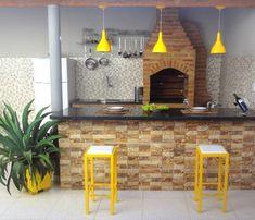 Espa o Gourmet Decora o de rea de lazer simp Bbq Grill, Interior Design Living Room, Home And Living, Future House, Interior And Exterior, Architecture Design, Kitchen Design, Sweet Home, New Homes