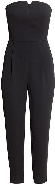 The 1 Piece Every Lazy Girl Needs: A jumpsuit! H&M Strapless Jumpsuit ($60)
