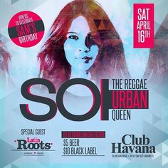 #Miami check out SOI April 16 at Club Havana. Just finished talking with #Singer-#Songwriter #SOI. Her #Reggae #Urban style is energetic and captivating. #Music #Live #Show http://ift.tt/1MRTm4L