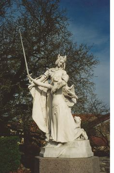 Domremy (Joan of Arc's birthplace)  Lady France gives Joan her sword (photo by Marcia Quinn Noren)