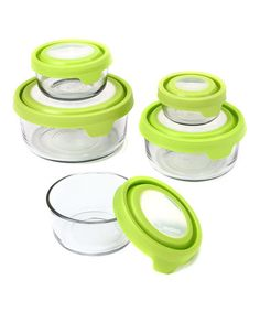 Look at this #zulilyfind! Green 10-Piece Round TrueSeal Container Set #zulilyfinds
