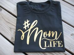 Mom Life Funny Tshirt, Mommy and Me, New Mom Gifts, Baby Shower Gift, Mom Birthday Gift, Hashtag shirt, Tumbler Shirts, Personalized Mom Tee by FunTrendyTees on Etsy