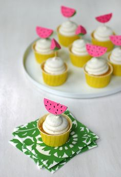 Watermelon Cupcake Picks | Oh Happy Day!