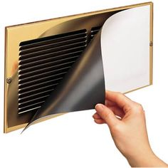 Magnetic vent covers from Miles Kimball help forced-air systems run more efficiently. Magnetic vent covers may be cut to fit and be painted. Fireplace Vent, Register Covers, Door Sweep, Vent Covers, Energy Bill, Door Seals, White Vinyl, Magnets, Conditioning