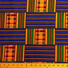 Kente African Print (19008-1) Fabric