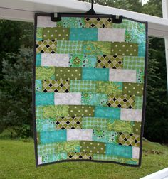 Baby Changing Quilt - LARGE : Sweet Brick. $40.00, via Etsy.