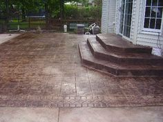 Stamped concrete patio - love