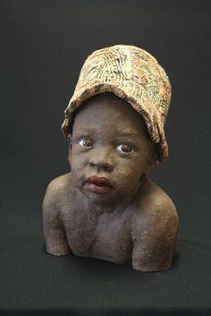 An Brzoskowski - PintoPin Human Sculpture, Sculpture Clay, Ceramic Sculptures, Ceramic Pottery, Ceramic Art, Slab Pottery, Ceramic Bowls, African Pottery, African American Artwork