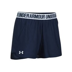Women's Under Armour Play Up Short 2.0 ($25) ❤ liked on Polyvore featuring activewear, activewear shorts, under armour sportswear and under armour