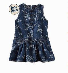 410daef72 OshKosh New Born Denim Drop-Waist Dress Cyber Monday Black Friday Walmart.  Andrea Costa · Roupas de bebê Importadas
