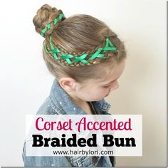 Come learn how to do a Corset Accented Braided Bun. It's such a cute style and is surprisingly easy! Perfect for dance, sports, special occasions and more