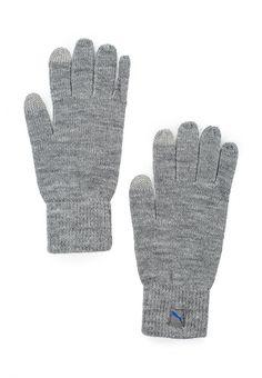 Перчатки Puma PUMA Big Cat Knit Gloves Перчатки Puma. Цвет: серый.  Сезон: Осень-зима 2016/2017. Одежда, обувь и аксессуары/Мужская одежда/Перчатки