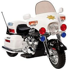 kids Ride-On Electric Police Motorcycle!