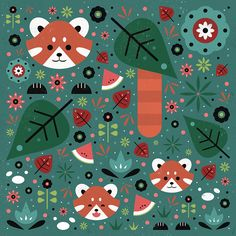 Carly Watts Art & Illustration: Red Panda and Cubs I love these, they're really cute!
