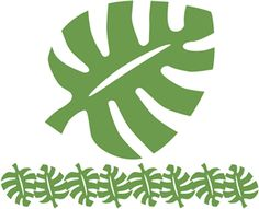 Silhouette Online Store: tropical leaf & leaf border
