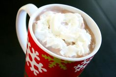 The Best Hot Cocoa EVER!     Ingredients   ◦1 gallon chocolate milk   ◦1 pint heavy whipping cream   ◦1 cup white chocolate chips     Instructions     1.Pour all ingredients into a crockpot on HIGH for 3-4 hours {until chips are melted and drink is warm}. Serve immediately.